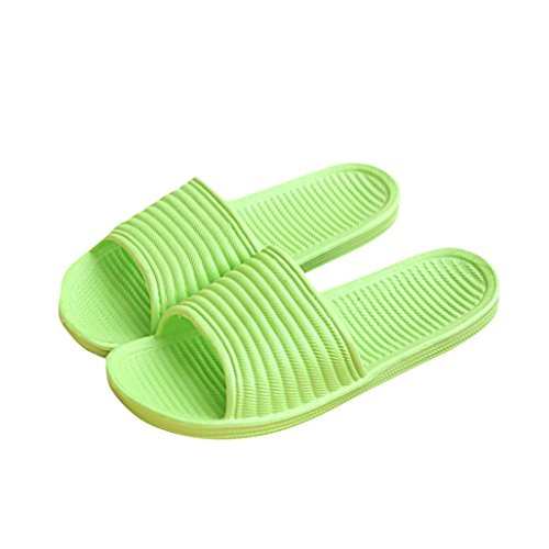 Tenworld Women's Anti-Slip Shoes Shower Slipper Comfort Slip On Slide Sandals (7, Green) - Signature Travel Wipes