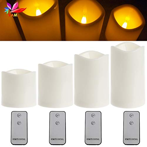 CHUN-Accessory - Romantic Flameless LED Candles Light Wedding Scented Wax With Remote Control