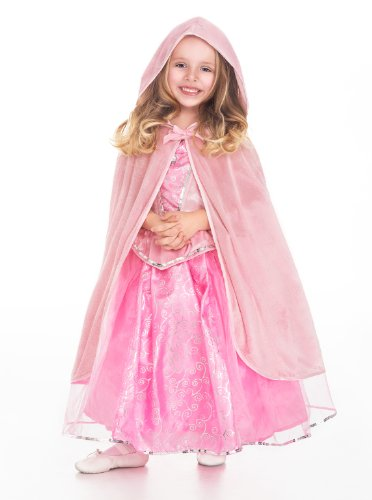 Cape Old (Little Adventures Traditional Hooded Princess Cloaks (Pink, L/XL Age 5-9))