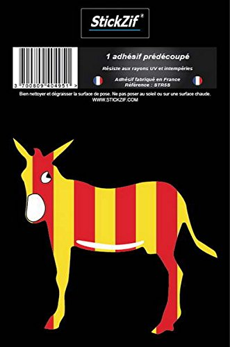 STICKZIF str5s Adhesiva Adhesivo región símbolo Burro catalán ...