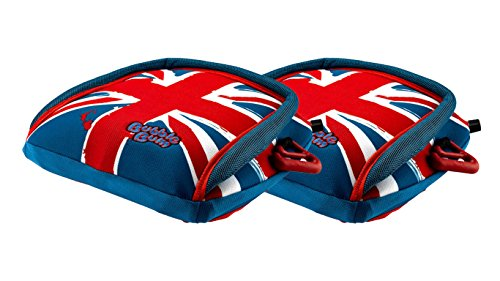 BubbleBum Backless Inflatable Booster Car Seat, Twin Union Jack Bundle (Inflatable Car Booster Seat In A Bag)