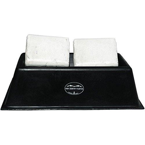 High Country Plastics Salt Block Holder, Double, Black