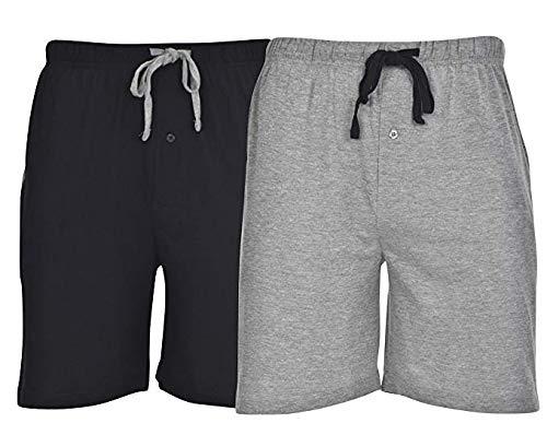 ec63f4bffbf19a Hanes (2 Pack Men's Sleep Shorts with Pockets Drawstring Tagless Sleeping  Shorts Cotton Loungewear