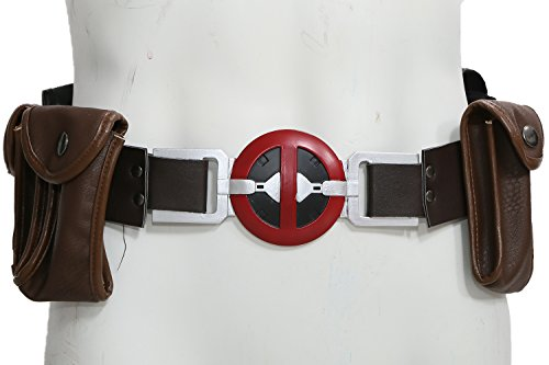 (xcoser DP Cosplay Belt New Movie Version Leather Belt with Pockets Pouches)