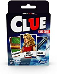 Hasbro Gaming Clue Card Game for Kids Ages 8 & Up, 3-4 Players Strategy