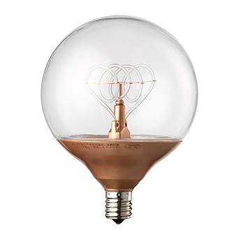 Ikea Nittio Led Lampe In Kupferfarben Rund E14 Amazon De Beleuchtung