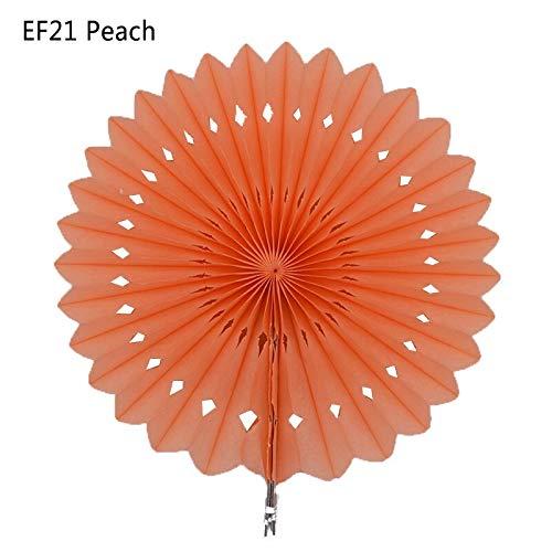- 1Pc 20Cm/25Cm/30Cm Tissue Paper Fans Honeycomb Pinwheels Hollow Hanging Flowers Birthday Wedding Baby Shower Decoration