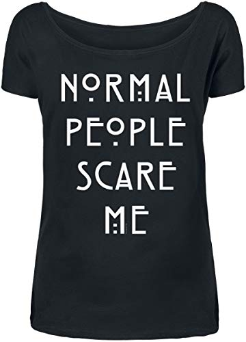 Courtes Horror Manches American shirt Noir People Story T Normal Up11aqw6