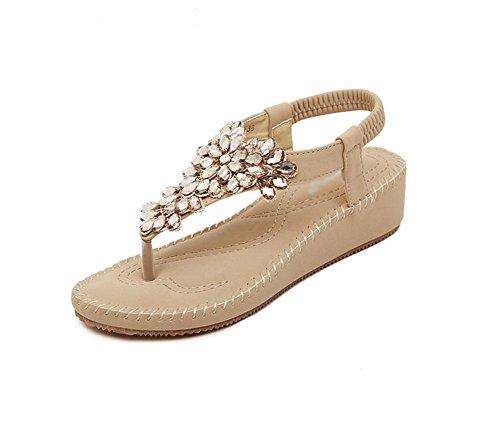 Salvajes A Del Zapatos Sandalias Las Pie De Imitación Los Dedo Diamantes Abierto Mujeres Aq7PPX