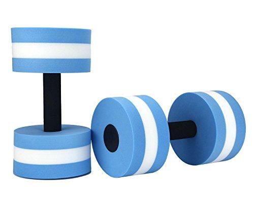 niceEshop(TM) Foam Dumbbells Water Aerobic Exercise Hand Bars Pool Resistance Exercises Equipment,Set of 2,Blue (Best Water Aerobic Exercises)