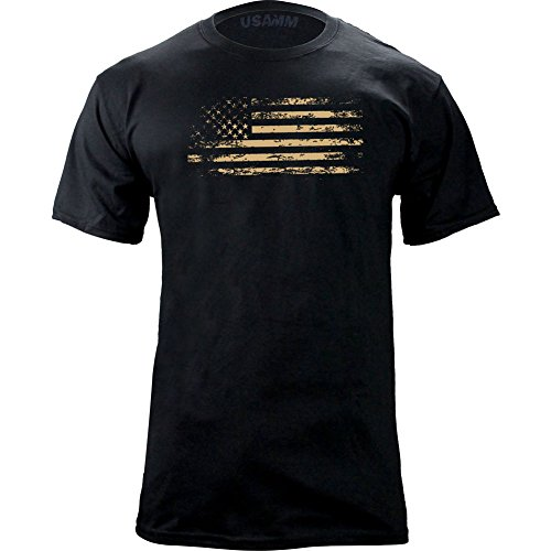 USAMM Distressed American Flag T Shirt