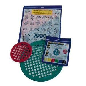 CanDo Web Hand Therapy Device, Latex, 14'' Diameter, Blue: Heavy