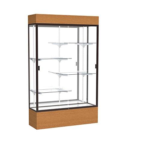 Frame Aluminum Waddell (Reliant Lighted Wood Veneer Floor Display Case, 48