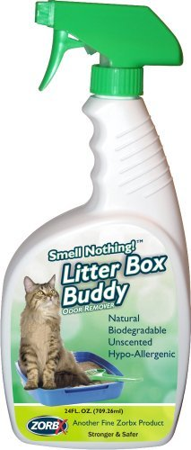 ZorbX Litter Box Buddy Odor Remover (24 oz) – Easily Manage Cat's Litter Box with Cat Odor Remover, Stronger and Safer Pet Odor Remover Works Instantly and Can be Applied Directly on Litter Box, Carpe