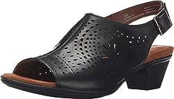 Rockport Women's Cobb Hill Ainsley Khaki Sandal 6 D - Wide