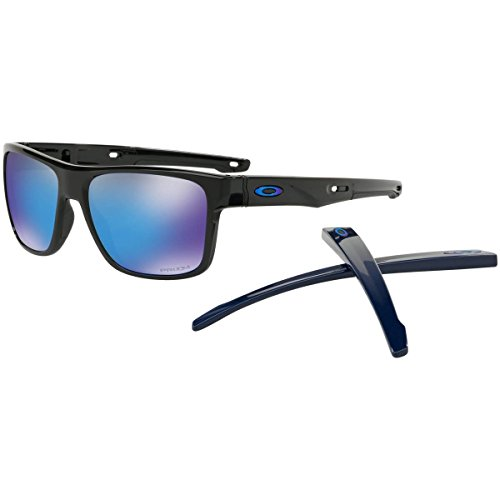 Oakley Men's Crossrange Aero Sunglasses,OS,Polished Black