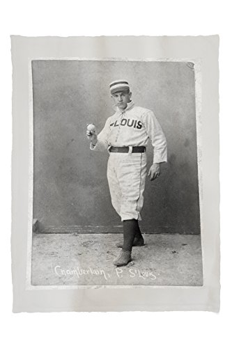 Lantern Press St. Louis Browns - Icebox Chamberlain - Baseball Card 23140 (60x80 Poly Fleece Thick Plush Blanket)
