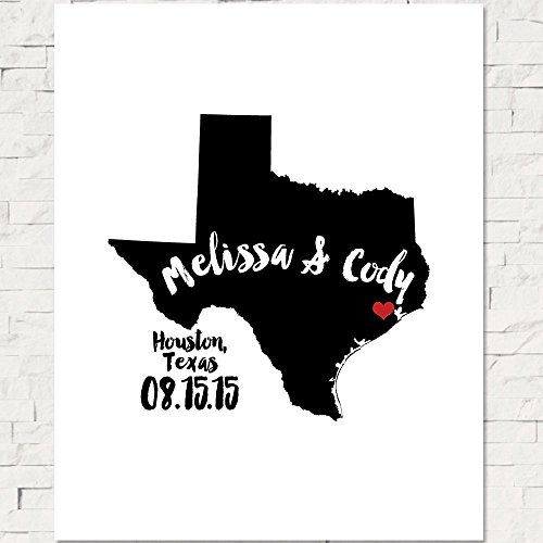 Alternative Wedding Guestbook, Custom Personalized Art Print or Canvas Guest Book, Choice of States and (Silhouette Olive)