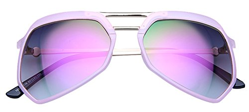 Color Film Polarized Upscale fashion contracted Sunglasses for sweethearts (pink frame (Pink Sweetheart Glasses)