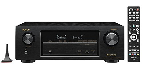 Denon AVRX1400H 7.2 Channel AV Receiver with Built-in HEOS wireless technology, Works with Alexa