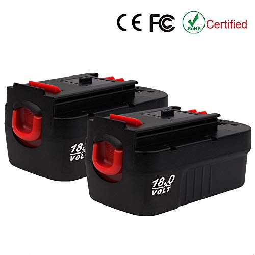 VANTTECH 2 Pack 18V 3.6Ah Ni-CD Replacement Battery for Black and Decker HPB18-OPE FSB18 Cordless Power Tools 244760-00A1718 A18FS18FL Firestorm for Black & Decker 18 Volt Battery