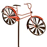 Panacea Products 87059 Spinner Lawn Ornament, Red Bicycle, 52 x 23-In. - Quantity 4