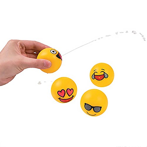 (Emoji Squirts ~ Cute Birthday Favors, Pool Party, Outdoor Celebration - 24 Pack)