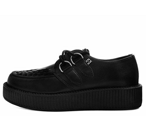 T.U.K. Shoes Schwarz Tukskin Viva Vegan Niedrigen Kriecher EU38/UKW5