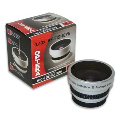 Opteka 0.43x HD2 Full Fisheye Lens for Canon VIXIA HF M31, M32, HF10, HF100, HF11, HF20, HF21, HG21, HR10, DC40, DC50, HV10, iVIS HV10, LEGRIA HF M31 and M32 Digital Video Camcorders