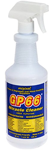 - gp66 Miracle Cleaner Manufacturer (1, Quart) Cleans and degreases just About Anything Anywhere Green Product Concentrated Non Toxic Non Hazardous Made in The USA All Purpose Multi Purpose