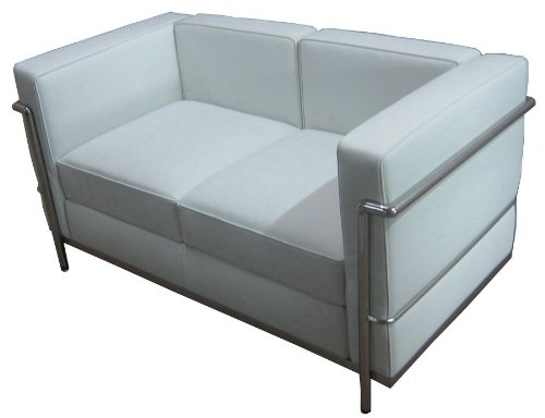 RetroMod Cubo2 Loveseat, White