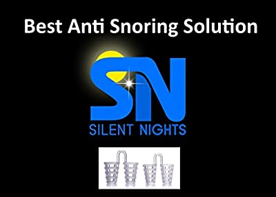 Silent Nights Reusable Nasal Dilators Cones Nose Plugs Stop Snoring Pk/2