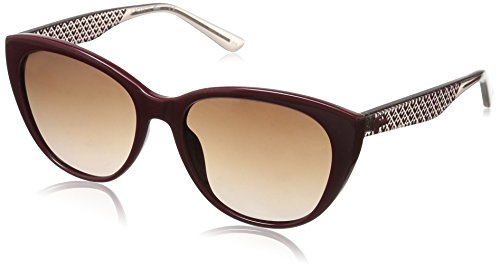 Lacoste Women's L832S Rectangular Sunglasses, Burgundy, 54 mm (Sunglasses Lacoste Red)