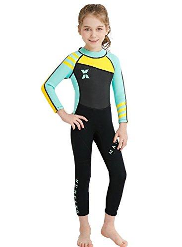 c6b5cc6b84d 7 · Neoprene Kids Wetsuit Boys Girls 2.5MM One Piece Full Body Long Sleeve  Swimsuit
