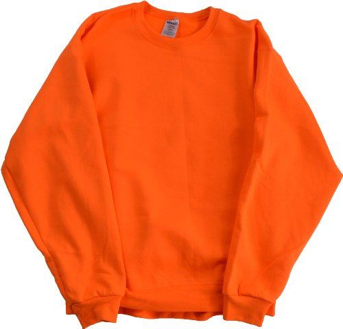 High Visibility Neon Safety Fleece Pullover Crewneck Sweatshirt- Orange or Green