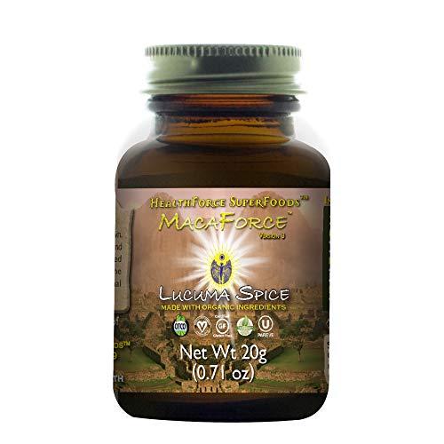 HealthForce SuperFoods MacaForce Lucuma Spice Powder - 20 Grams - Whole Maca Root Supplement, Supports Fertility, Healthy Libido & Mood - Organic, Vegan, Gluten Free - 2 Servings