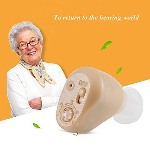 Hearing Digital In-Ear Mejor Sonido Invisible Mejora Sordo Volumen Amplificador Mini Recargable Oído Cuidado Inalámbrico...