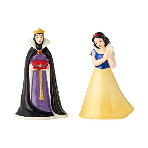 "Enesco Disney Ceramics Snow White and The Evil Queen, 3.5"" Salt and Pepper Shakers Multicolor"