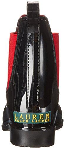 Lauren Ralph Lauren Vrouwen Tally Regenlaars Zwart / Echt Helder Rode Vaste Polyvinylchloride / Elastische
