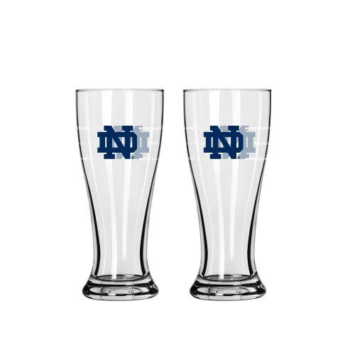 NCAA Notre Dame Fighting Irish Mini Pilsner, 2.5-ounce, 2-Pack (Set Shot Fan Glass)