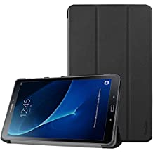 Samsung Galaxy Tab A 10.1 Case, ProCase Slim Smart Cover Stand Folio Case for Galaxy Tab A 10.1 Inch Tablet SM-T580 T585 2016 (Black)