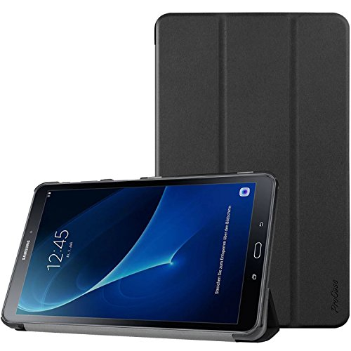 ProCase Galaxy Tab A 10.1 Case SM-T580 T585 T587 2016 Released, Slim Smart Cover Stand Folio Case for Samsung Galaxy Tab A 10.1 Inch Tablet -Black