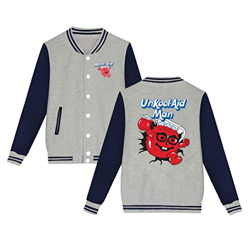 X Q X Baseball Uniform Jacket Sport Coat, Ko-ol Aid-Man Cotton Sweater for Women Men Boy Girls -