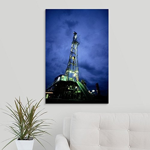 Great BIG Canvas Gallery-Wrapped Canvas entitled Oil Rig and Derrick