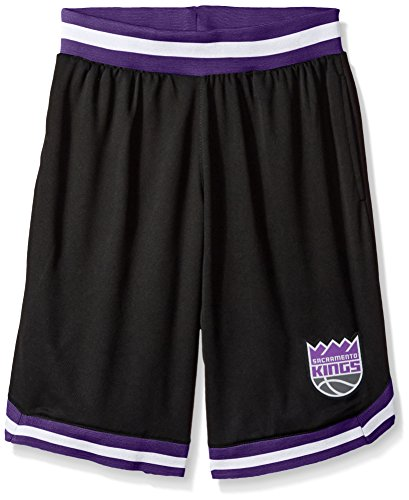 UNK NBA NBA Men's Sacramento Kings Mesh Basketball Shorts Woven Active Basic, X-Large, Black (Kings Nba Sacramento Basketball)