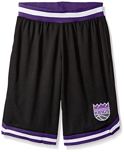 NBA Men's Sacramento Kings Mesh Basketball Shorts Woven Active Basic, Large, Black