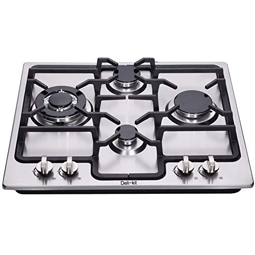 DK245-A04 24 inch gas cooktop gas hob stovetop 4 burners LPG/NG Dual Fuel 4 Sealed Burners Stainless Steel Built-In gas hob 110V AC pulse ignition gas cooktop gas stove