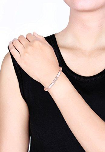 "Elli-Bracelets-Femme-Inscription ""Dream""-Plaqué or Rose-0202122916_17"