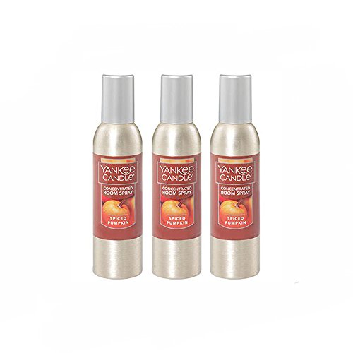(Yankee Candle Concentrated Room Spray 3-PACK, Spiced Pumpkin)