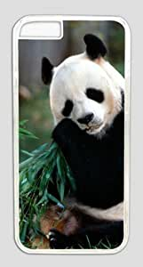 Funny Giant Panda Bear Eating Bamboo Customized Hard Shell Transparent iphone 6 plus Case By Custom Service Your Perfect Choice